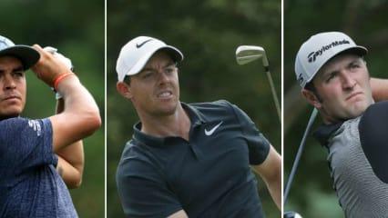 Das Trio um Rory McIlroy startet früh in die zweite Runde der PGA Championship 2017. (Foto: Getty)