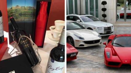 """Ernie Els verkauft """"Big Easy Wein"""" und Ian Poulter sammelt Ferraris in seiner Freizeit. (Fotos: Instagram at ernieelsgolf/Instagram at ianjamespoulter)"""