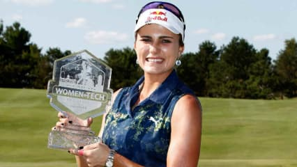 Lexi Thompson ist die strahlende Siegerin bei der Indy Women in Tech Championship. (Foto: Getty)