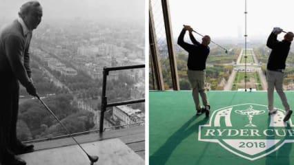 Noch ein Jahr bis zum Ryder Cup in Paris und der Countdown beginnt vom Eiffelturm. (Foto: Twitter @rydercup)