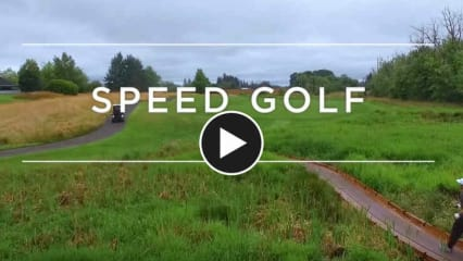 Bei Adventures in Golf stellt sich Erik Anders Lange dem Speedgolf. (Foto: Screenshot)