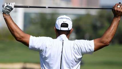 Tiger Woods verbringt vor einer Turnierrunde viel Zeit auf der Driving Range. (Foto: Getty)