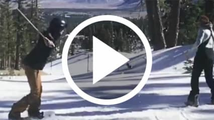 Snowboard Trickshot Golf Video Tania Tare