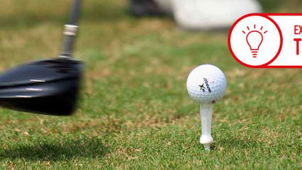 Je weniger Sie sich auf den Ball konzentrieren, desto besser können Sie an Ihrem Schwung arbeiten. (Foto: Getty)