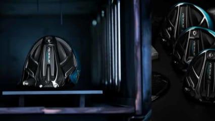 Die Callaway Rogue Driver und Hölzer präsentieren sich in einem futuristisch anmutenden Schwarz und Blau. (Foto: Callaway)