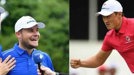 Lachende Gesichter beim EurAsia Cup. Dabei liegen die Europäer zum Auftakt gegen Asien hinten. (Foto: twitter.com/EuropeanTour)