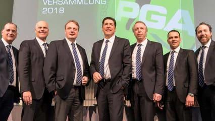 Der neugewählte Vorstand der PGA of Germany mit Präsident Stefan Quirmbach in der Mitte. (Foto: PGA of Germany)