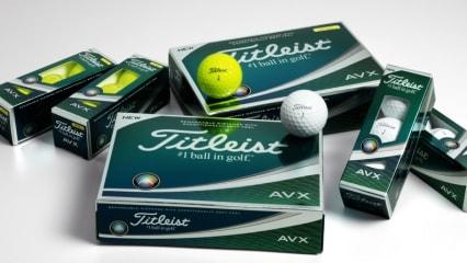 Titleist veröffentlicht mit dem AVX einen neuen Golfball, der dem ProV1 und ProV1x intern Konkurrenz machen soll. (Foto: Titleist)