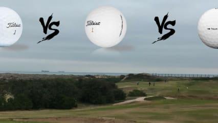 Golf Post hat in Valencia im Golfclub El Saler die drei Titleist Golfball-Modelle Velocity, Tour Soft und Pro V1 miteinander verglichen und unter die Lupe genommen. (Foto: Golf Post / Titleist)