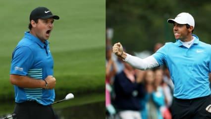 Patrick Reed und Rory McIlroy stehen sich beim Finale des US Masters 2018 gegenüber. (Foto: Getty)