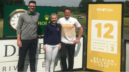 Diese drei Golf Post Community Mitglieder haben es beim Belgian Knockout mit den Profis aufgenommen. (Foto: Golf Post)