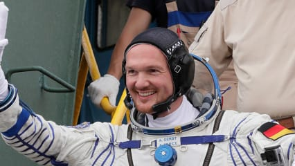 Alexander Gerst auf dem Weg zu seiner zweiten Weltraummission. (Foto: Getty)