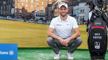 Max Kieffer im großen Golf Post Interview über seine Zeit auf der European Tour. (Foto: Allianz)