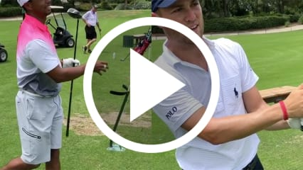 Schlägerwirbel Tiger Woods Justin Thomas Golf Video
