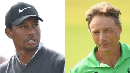 Bernhard Langer (r.) und Tiger Woods stehen im Finale der 147. Open Championship. (Foto: Getty)