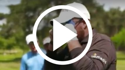 Golf Video Profigolfer spielen blind