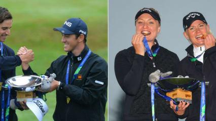 Spanien (li.) und Schweden (re.) triumphieren bei den ersten European Championships Golf in Gleneagles. (Foto: Getty)