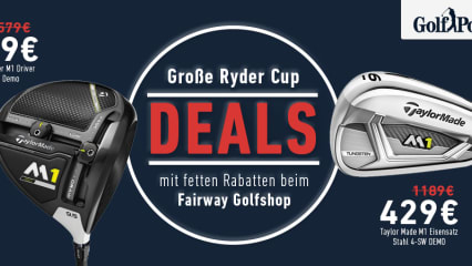 Ryder Cup Angebote beim Fairway Golfshop (Foto: Golf Post)