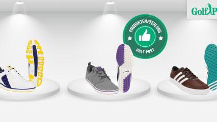 Die besten Golfschuhe ohne Spikes im Angebot. (Foto: FootJoy/Nike/Adidas)