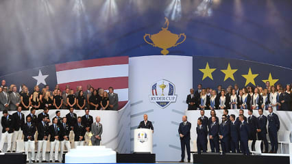 Die Eröffnungszeremonie des Ryder Cup 2018 hatte viel Pathos. (Foto: Getty)