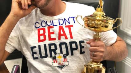 Ian Poulter reibt den Amerikaner den Ryder-Cup-Sieg unter die Nase. (Foto: Twitter.com/@IanJamesPoulter)
