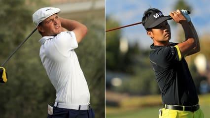 Bryson DeChambeau und Teampartner Kevin Na liegen beim QBE Shootout auf der PGA Tour in geteilter Führung. (Fotos: Getty)