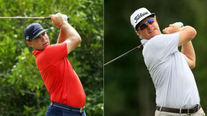 Gary Woodland (li.) und Charley Hoffman (re.) spielten an Tag 2 die beste Runde des Tages. (Foto: Getty)