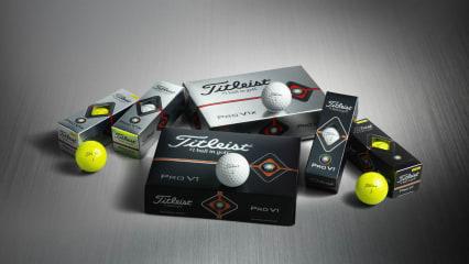 Erstmals auch in Gelb - die neuen Titleist Pro V1 und Pro V1x Golfbälle. (Foto: Titleist)