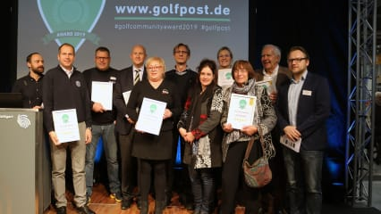 Die Sieger des 1. Golf Post Community Awards. (Foto: Golf Post)
