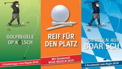 Das Heft zu den Golfregeln 2019 gibt es nun auch auf Kölsch und Bayerisch. (Copyright: text-factory)