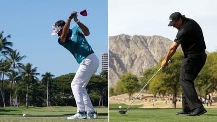 Bubba Watson und Phil Mickelson gehören zu den bekanntesten Linkshand-Golfern der Welt. (Foto: Getty)