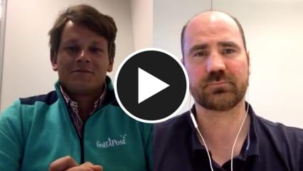 Golf Post Redakteur Robin Bulitz (li.) hat sich mit Sport- und Mentalcoach Stefan Kloppe (re.) über Golf und Handball unterhalten. (Foto: Golf Post)