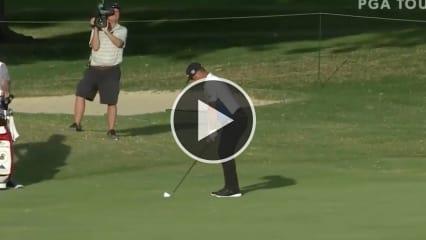 Gary Woodland mit dem beeindruckenden Stinger auf der PGA Tour. (Foto: Twitter/@PGATOUR)