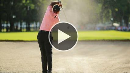 Tiger Woods' unglaublicher Bunkerschlag im Video