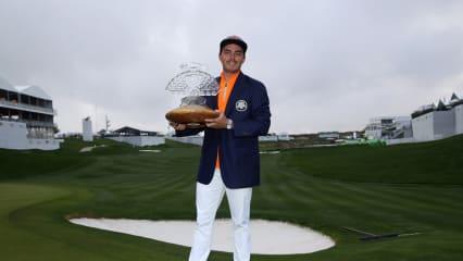 Rickie Folwer hält zum fünften Mal eine Trophäe der PGA Tour in der Hand. (Foto: Getty)