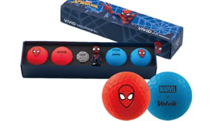 Die neuen Golfbälle im Spiderman-Design. (Foto: golfbusinessnews)