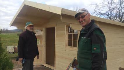 Frisch gebaut! An Loch 13 des GC am Donnerberg ziert neuerdings eine neue Hütte die Landschaft. (Bildquelle: GC am Donnerberg)