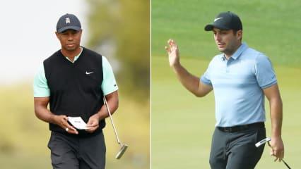 Tiger Woods muss bei der World Golf Championship 2019 eine Niederlagen einstecken, Francesco Molinari gewinnt sein Match. (Foto: Getty)