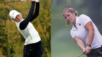 Sophie Hausmann und Leonie Harm bei der Augusta National Women's Amateur Championship. (Fotos: Twitter.com/@IdahoGA und Instagram.com/@leoharm)