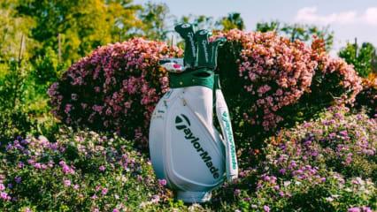Alles wird bei TaylorMade auf das US Masters 2019 ausgelegt, sogar die Bags der Stars. (Foto: TaylorMade)