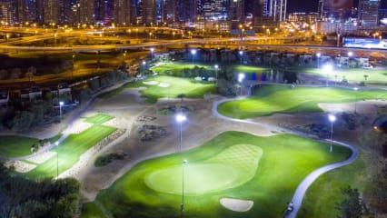 Die Ladies European tour macht den Tag zur Nacht und spielt unter Flutlicht in Dubai. (Bildquelle: Twitter)