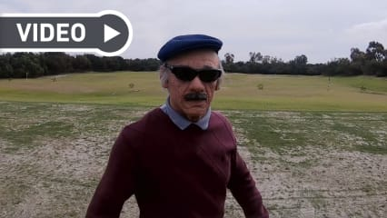 Der Long Drive Champion in der Rolle des 87-jährigen Opa Jamie. (Foto: Screenshot Facebook/ Cleveland Golf)