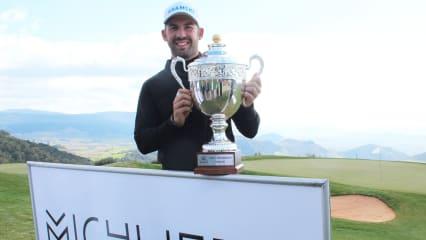 Allen John ist der strahlende Sieger der Open Michlifen auf der Pro Golf Tour 2019. (Foto: Pro Golf Tour)