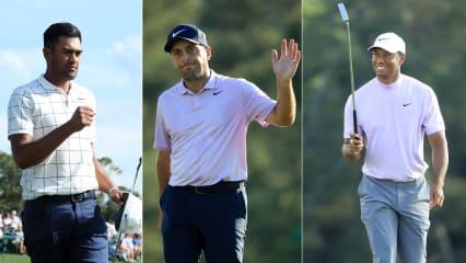 Tiger Woods, Francesco Molinari und Tony Finau spielen am Sonntag gemeinsam im letzten Flight. (Foto. Getty)