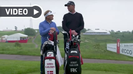 Sören Kjeldsen und Robert Karlsson im Duell. (Bildquelle: Screenshot/ Youtube)
