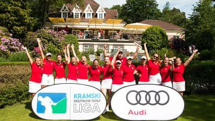Die Damen des Frankfurter GC bejubeln ihren Spieltagssieg. (Foto: Deutscher Golf Verband / mat)