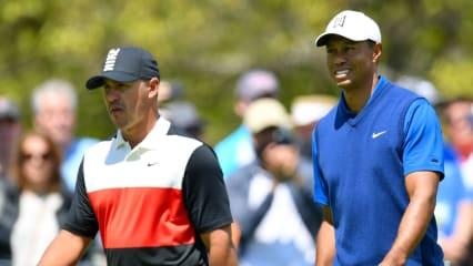 Brooks Koepka und Tiger Woods auf der ersten Runde der PGA Championship 2019. (Foto: Getty)