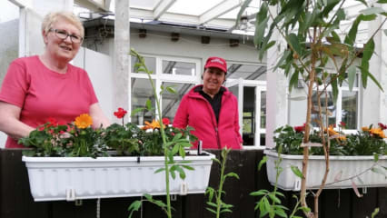 Kleine und große Spenden von Mitgliedern des GC Altrhein für die neuen Blumenkästen. (Bild: GC Altrhein)