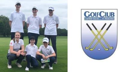 Die Jugendmannschaft des Golfclub Castrop-Rauxel startet erfolgreich in die Landesliga. (Bildquelle: GC Castrop-Rauxel)