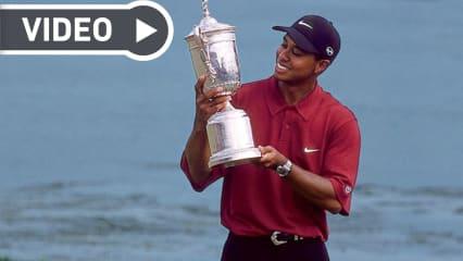 Tiger Woods siegte bei den US Open 2000 mit einer grandiosen Leistung auf dem Pebble Beach Golf Links. (Foto: Golf.com)